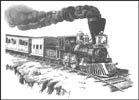 steam train note cards